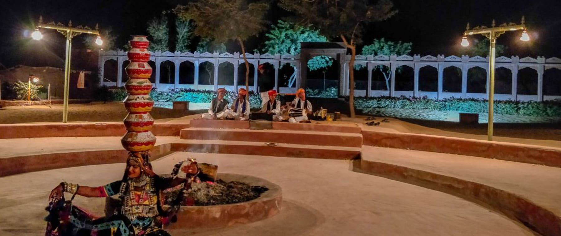 Traditional Music & Dance of Rajasthan at  osian desert resort.